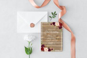 Country Blooms Wedding Invitation