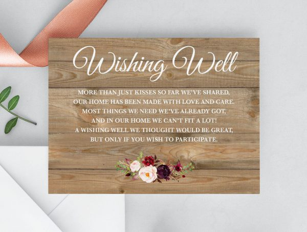 Country Blooms Wishing Well Cards