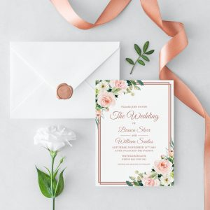 Dusty Belle Wedding Invitation
