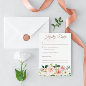 Dusty Belle RSVP Card
