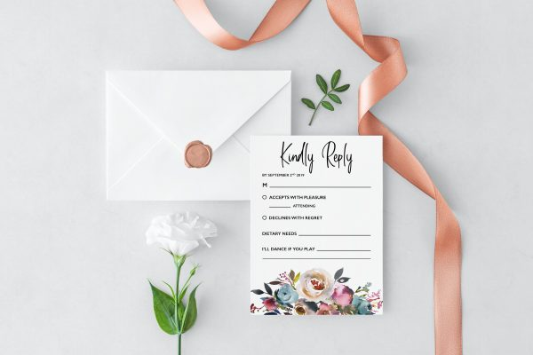 Dusty Posies RSVP Cards