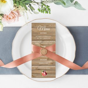 Forever Lover Menu Cards