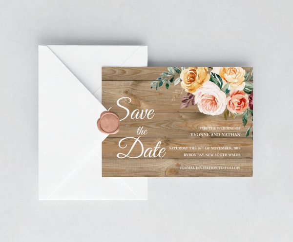 Golden Hour Save the Date Cards