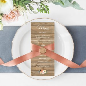 Golden Hour Menu Cards