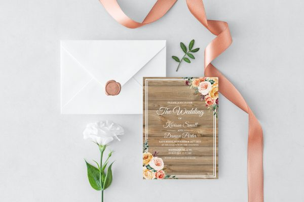 Golden Hour Wedding Invitation