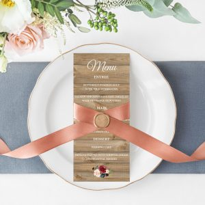 Love Affair Menu Cards