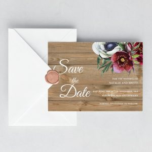 Merlot Enchantment Save the Date Cards