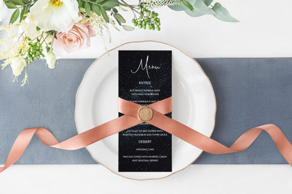 Midnight Sky Menu Card