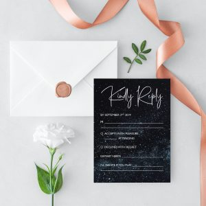 Midnight Sky RSVP Card