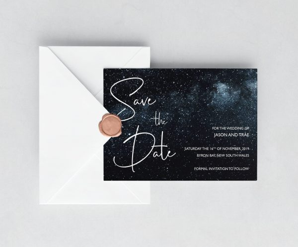 Midnight Sky Save the Date Card