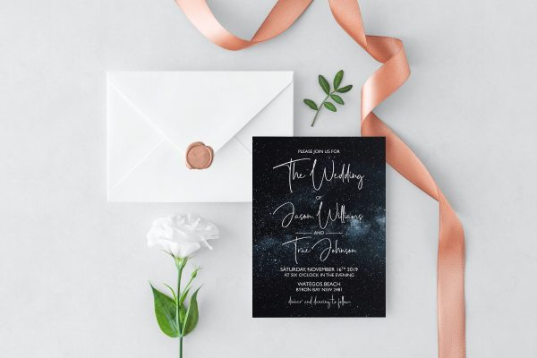 Midnight Sky Wedding Invitation