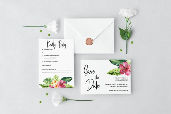 Mahalo Wedding Set
