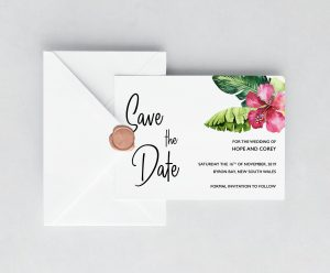 Mahalo Save the Date Cards