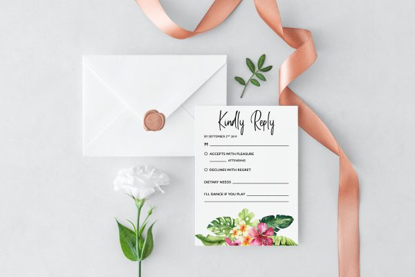 Mahalo RSVP Cards