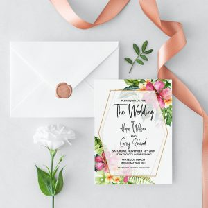 Mahalo Wedding Invitation