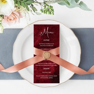 Nebula Menu Cards