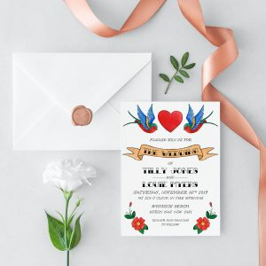Rockabilly Wedding Invitation