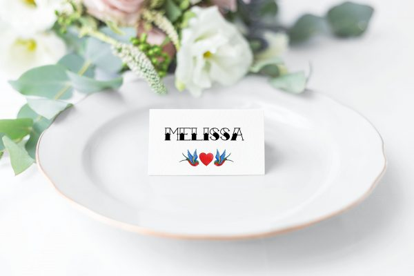 Rockabilly Place Card