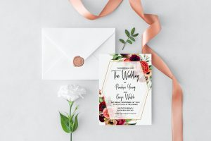 Summer Posies Wedding Invitation