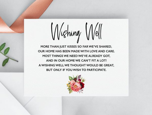 Summer Posies Wishing Well Cards
