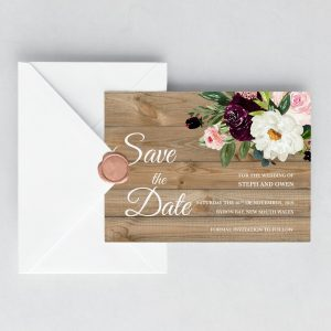 Sugar Plum Gardens Save the Date Cards