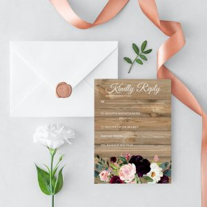 Sugar Plum Gardens RSVP Cards