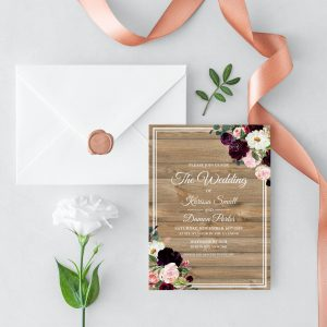 Sugar Plum Gardens Wedding Invitation