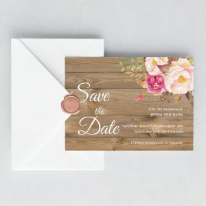 Soft Blooms Save the Date Cards