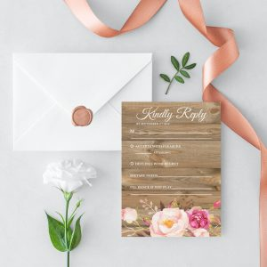 Soft Blooms RSVP Cards