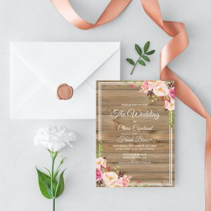 Soft Blooms Wedding Invitation