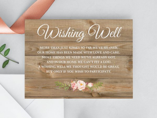 Soft Blooms Wishing Well Cards