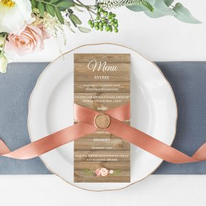 Soft Blooms Menu Cards
