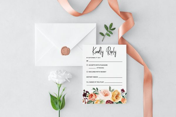 Summer Breeze RSVP Cards