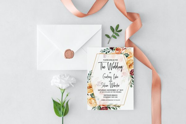Summer Breeze Wedding Invitation