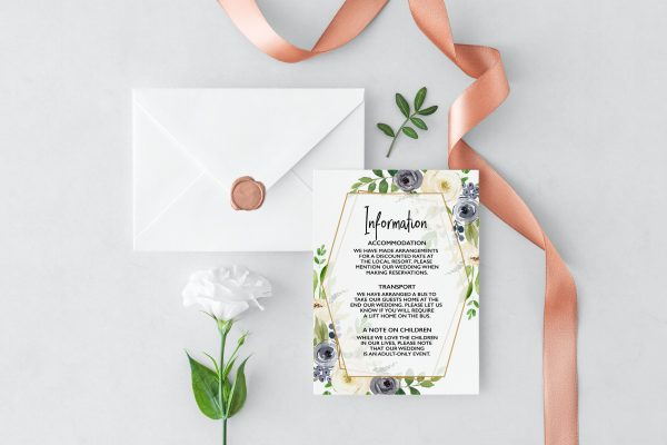 Indigo Blossoms Information Card