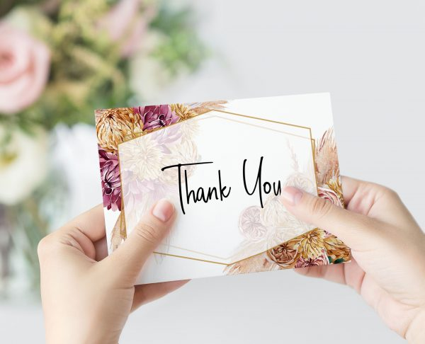 Bohemian Gypsy Thank You Card