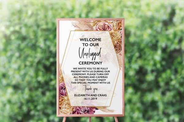 Bohemian Gypsy Unplugged Sign