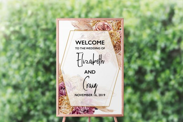 Bohemian Gypsy Welcome Sign