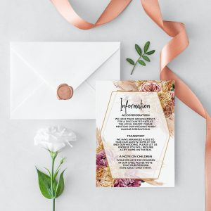 Bohemian Gypsy Information Card