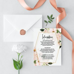 Blush Hydrangeas Information Card