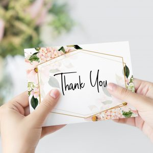 Blush Hydrangeas Thank You Card