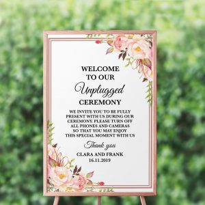 Blushing Blooms Unplugged Sign