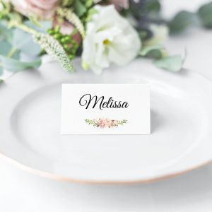 Blushing Blooms Place Cards