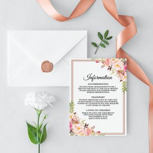 Blushing Blooms Information Card