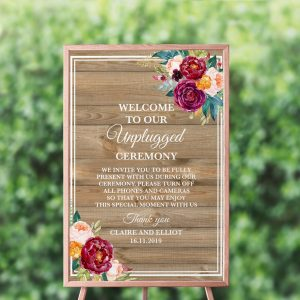Cottage Garden Unplugged Sign