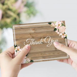 Country Hydrangeas Thank You Card