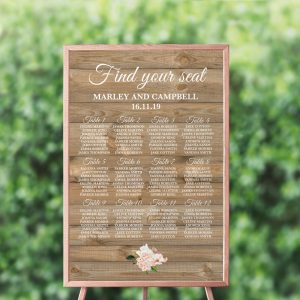 Country Hydrangeas Seating Chart
