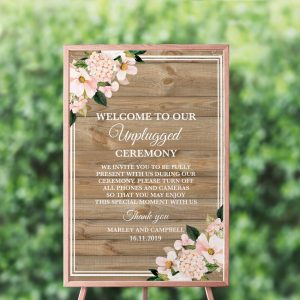 Country Hydrangeas Unplugged Sign