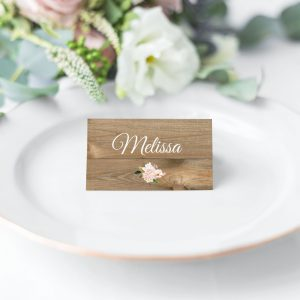 Country Hydrangeas Place Cards