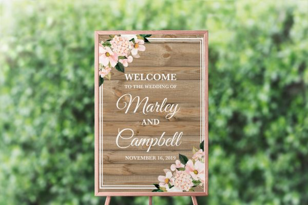 Country Hydrangeas Welcome Sign